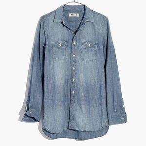 Madewell Chambray Ex-BF Shirt